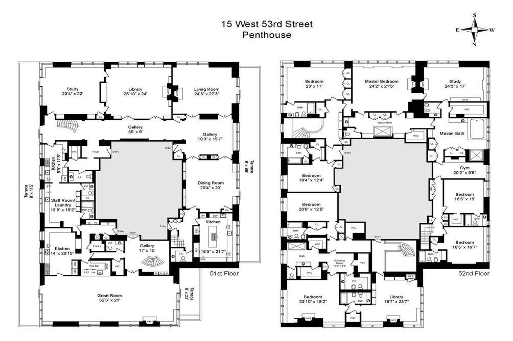 219 East 44th Street #PH floor plan