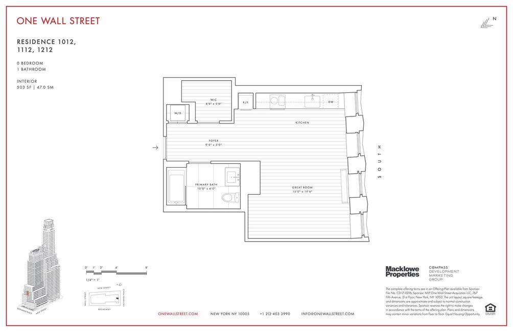 1-Wall-Street floor plan