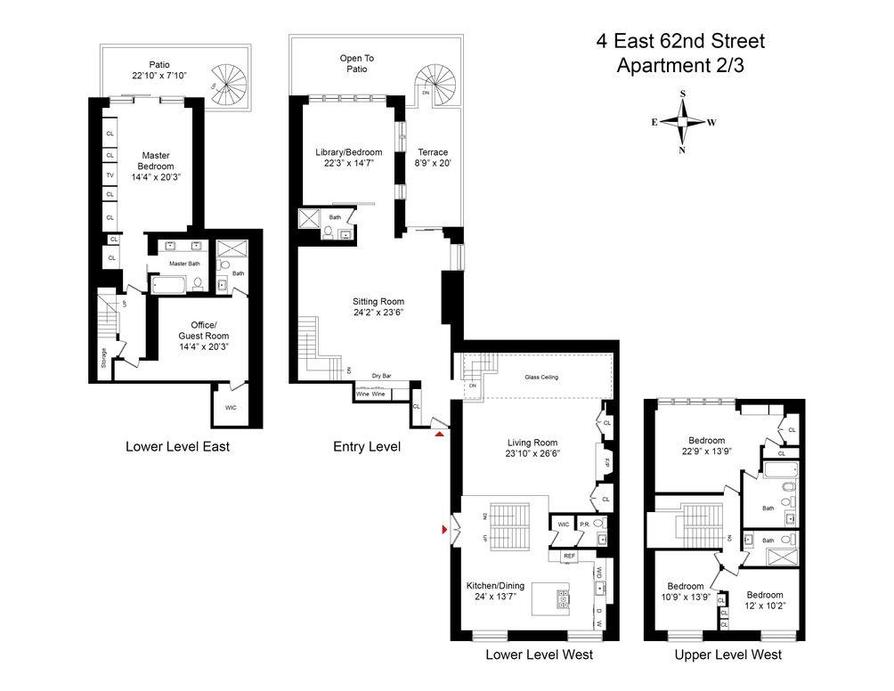 4 East 62nd Street #2/3 floor plan
