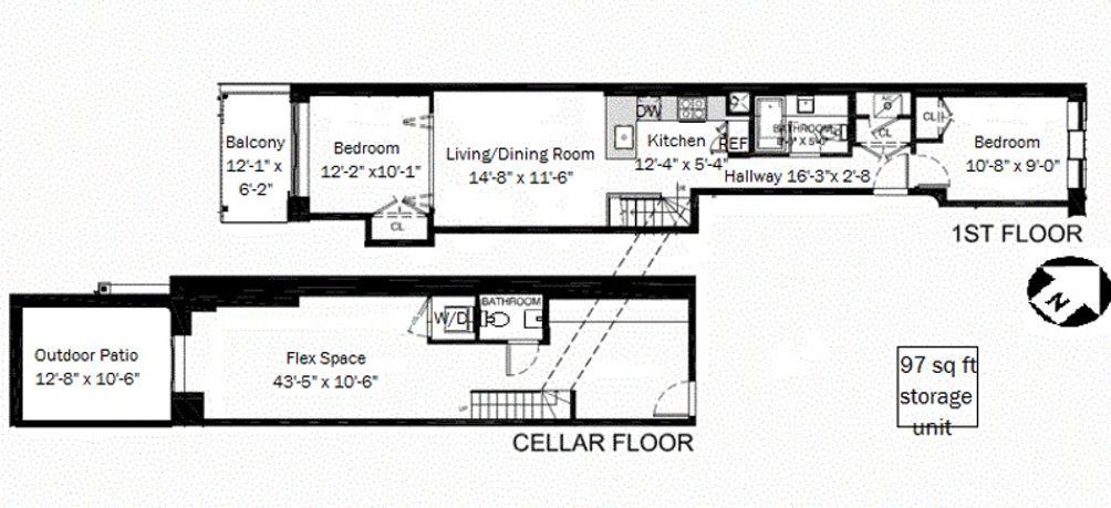 830 Halsey Street #1R floor plan