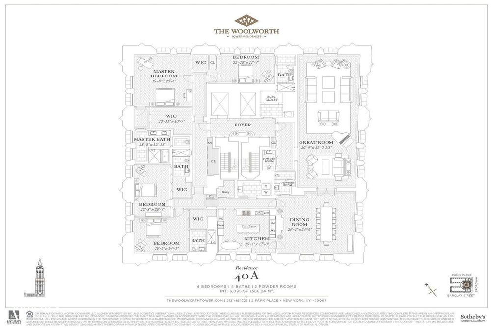 2 Park Place #40A floor plan