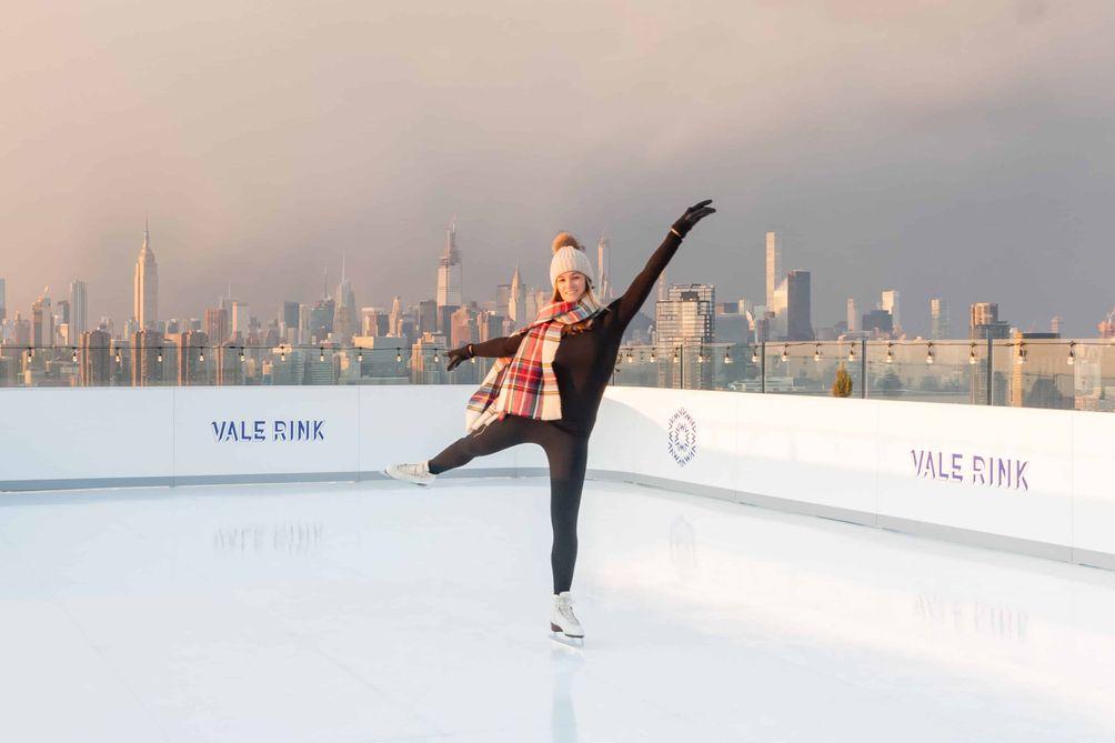 William Vale ice skating
