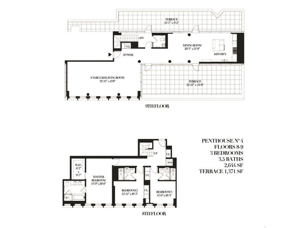 15 Renwick Street #PH4 floor plan