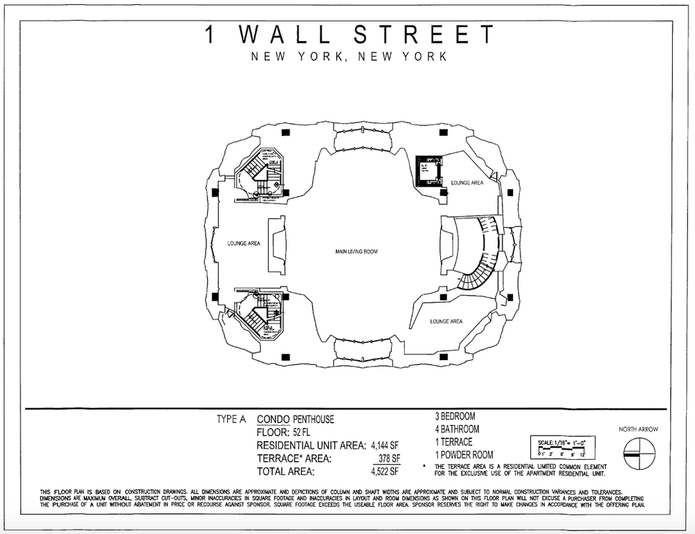 One Wall Street residences