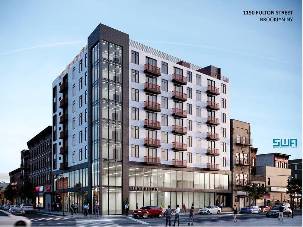 Rendering of 1190 Fulton Street in Bed-Stuy