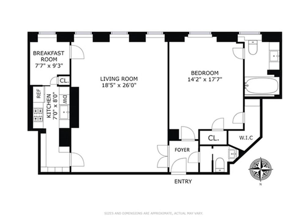 960 Fifth Avenue #1C floor plan