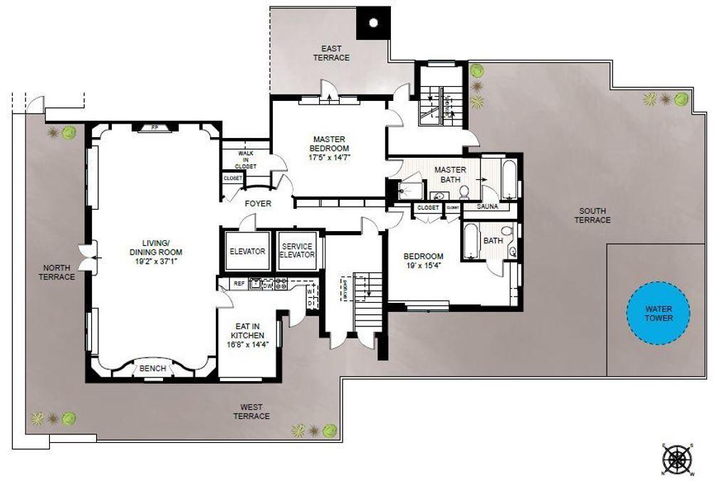 239 Central Park West #PHB floor plan