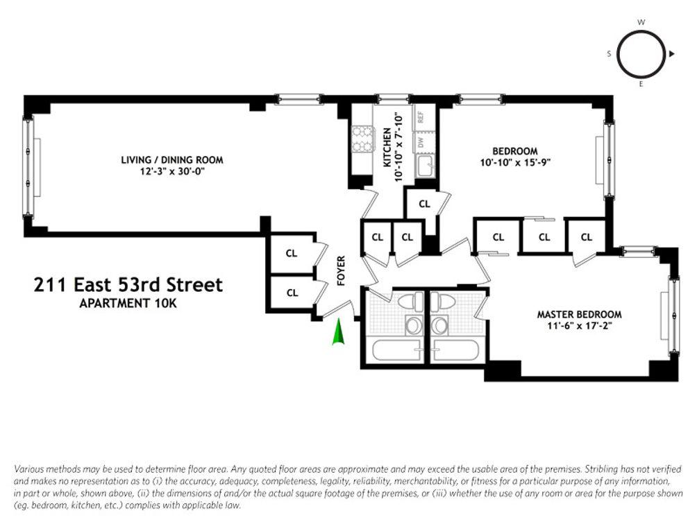 211 East 53rd Street #10K floor plan