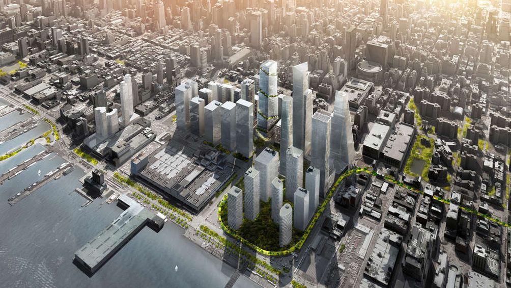 The Spiral, 35 Hudson Yards, BIG, Hudson Yards, Hudson Boulevard, office, New York, skyline, skyscraper