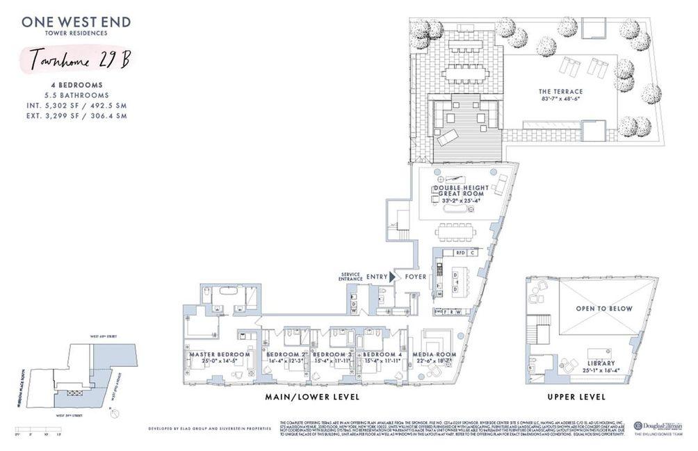 1 West End Avenue #29B floor plan