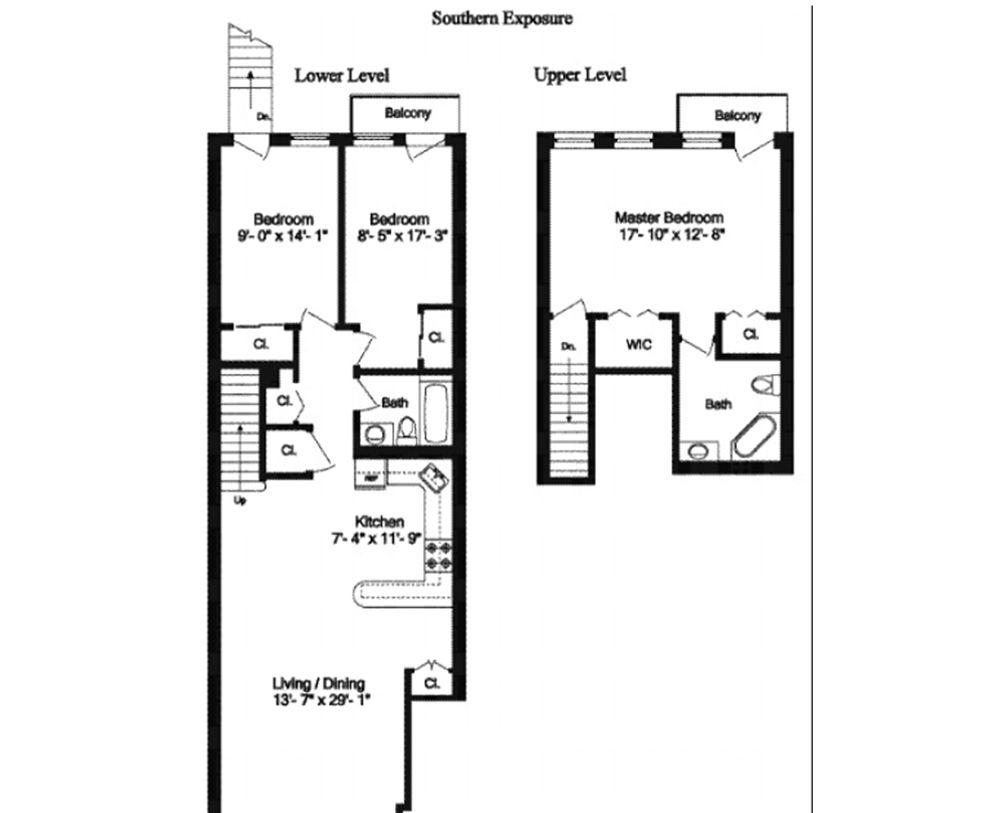 1750 Dean Street #54B floor plan