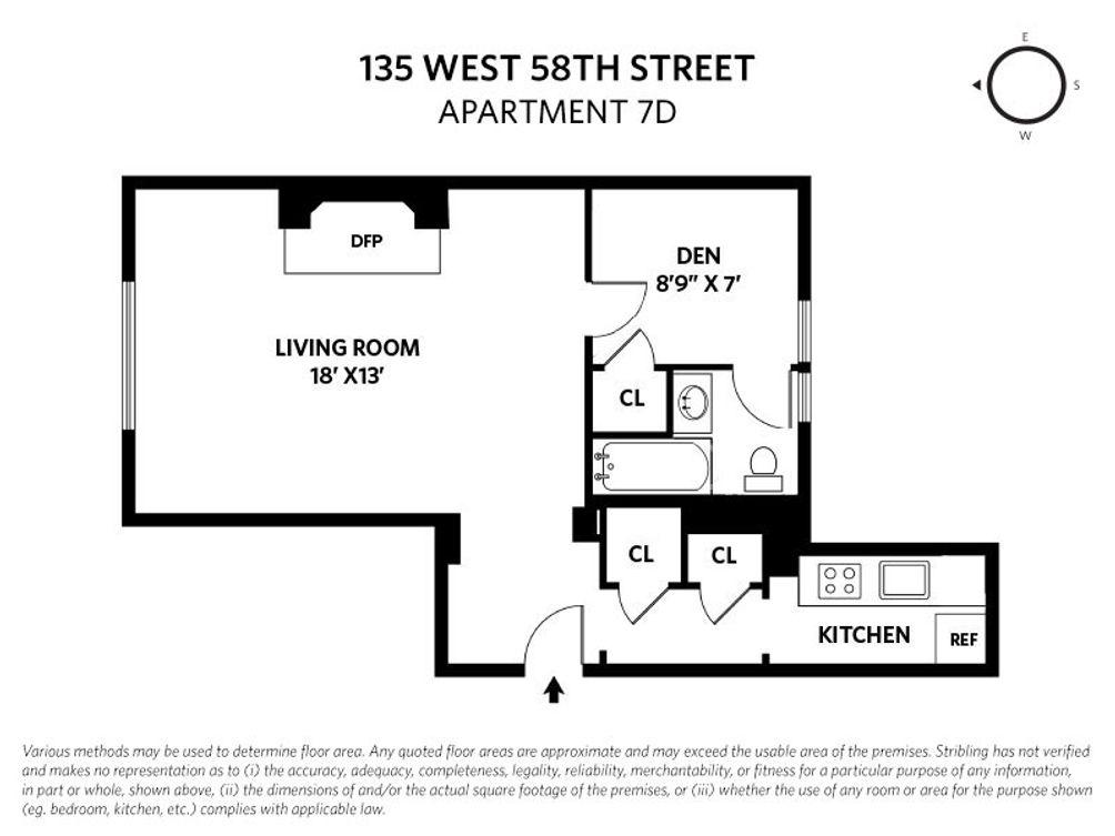 135 West 58th Street #7D floor plan