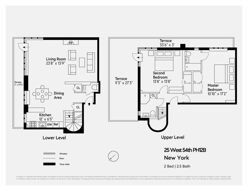25 West 54th Street #PH12B floor plan