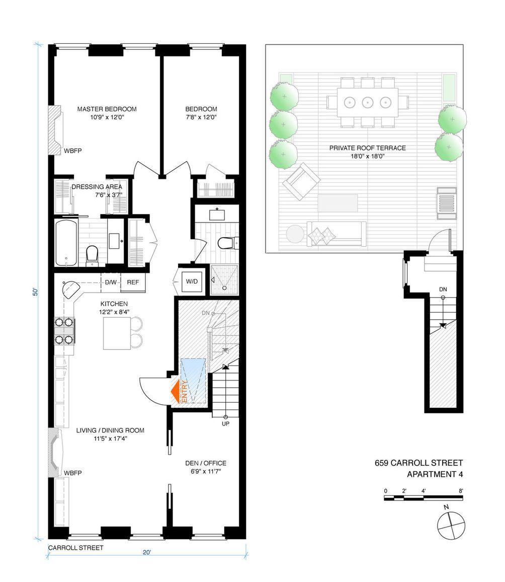 659 Carroll Street #4 floor plan