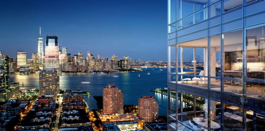 The debut of vantage new 45 story jersey city rental for Trump tower jersey city rentals