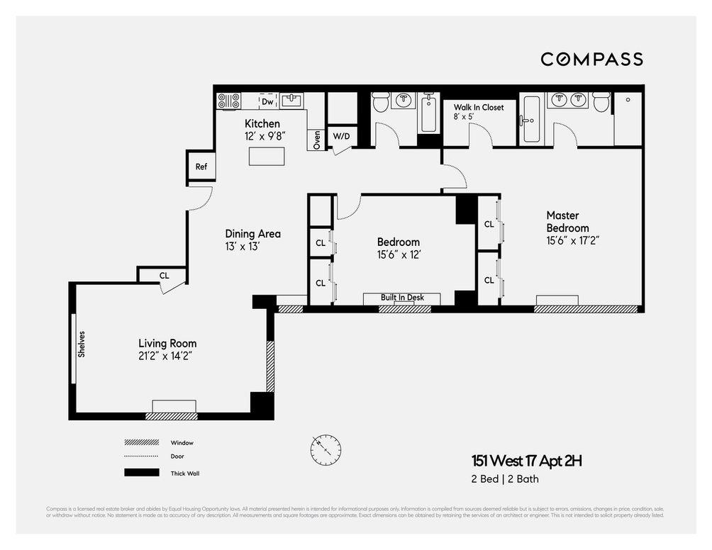 151 West 17th Street #2H floor plan