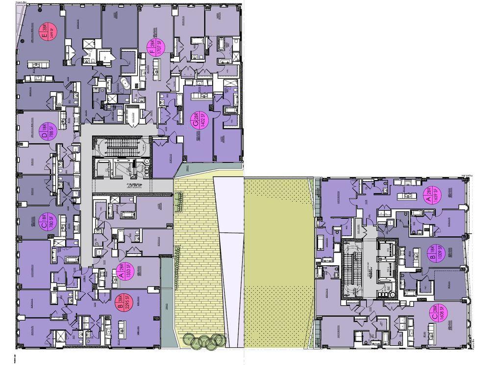 Floor Plan, 121 East 22nd Street, OMA New York, Shohei Shigematsu, Rem Koolhaas, Toll Brothers, Gemdale