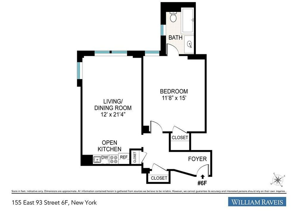 155 East 93rd Street #6F floor plan
