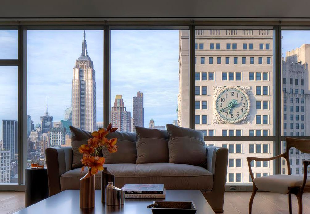 Andre designed a unit at the luxury One Madison for an Art Collector