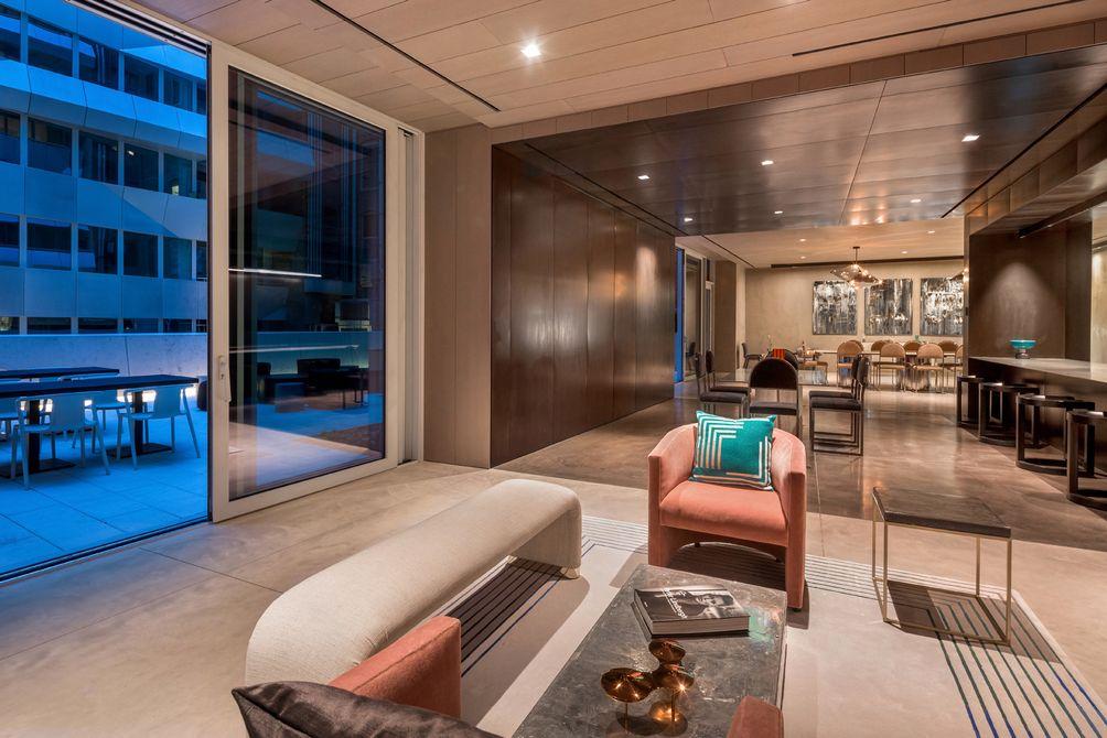 Lounge, Common Area, Amenities, 121 East 22nd Street, OMA New York, Shohei Shigematsu, Rem Koolhaas, Toll Brothers, Gemdale