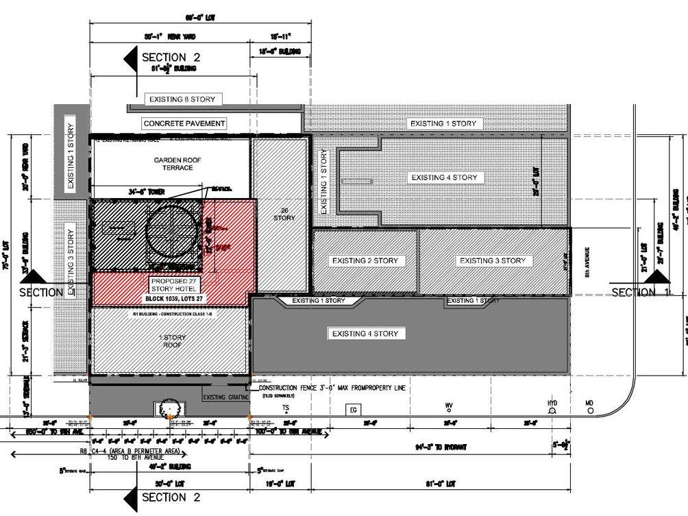 305 West 48th Street site plan