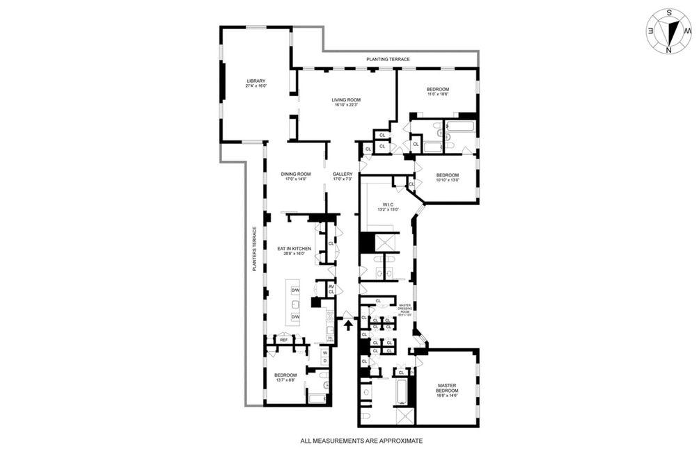 15 East 69th Street #16B floor plan