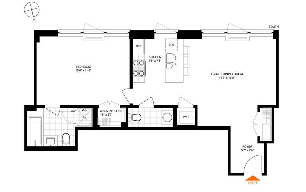 30 Bayard Street #3F floor plan