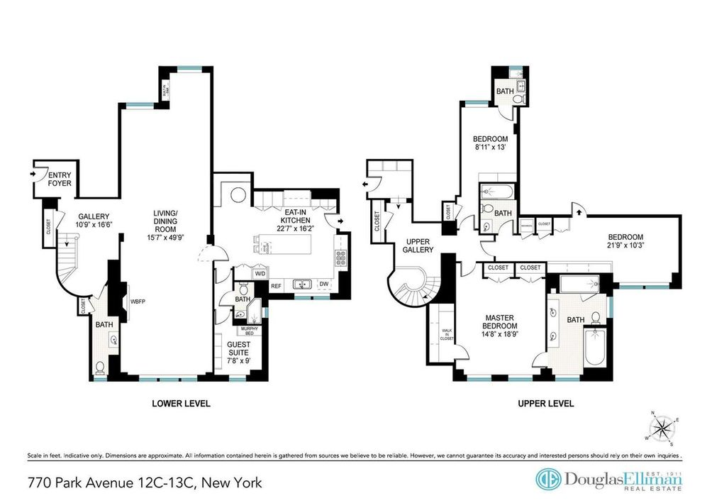 770 Park Avenue #12/13C floor plan