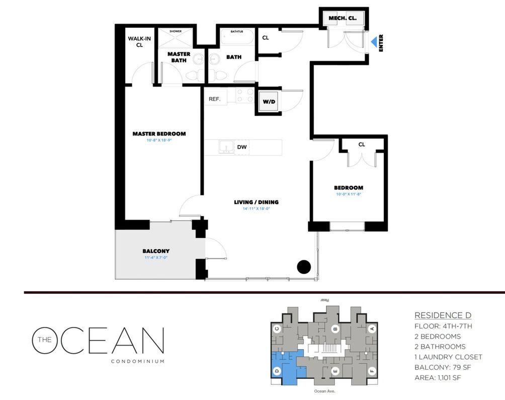 3041 Ocean Avenue #6D floor plan