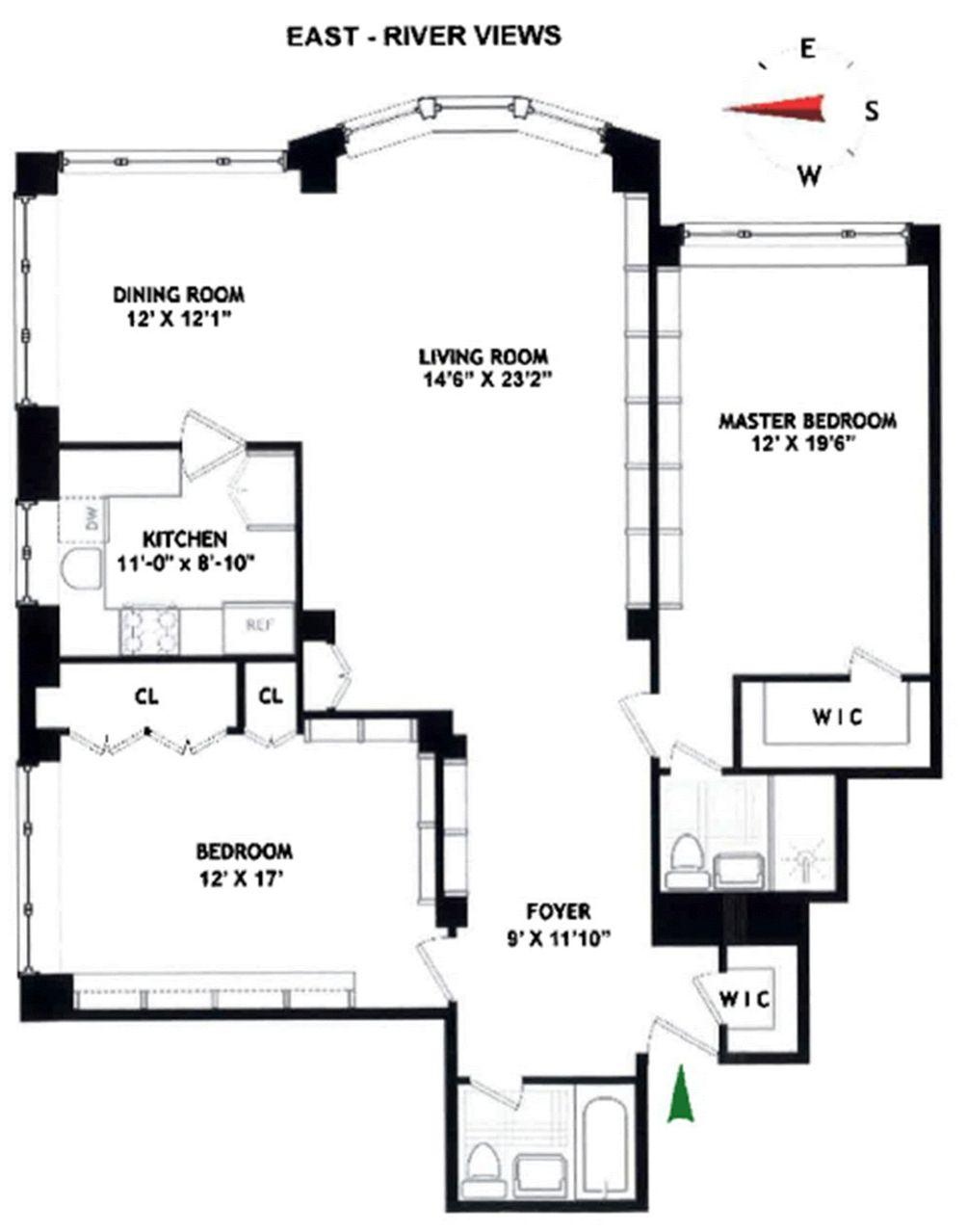 45 Sutton Place South #5K floor plan