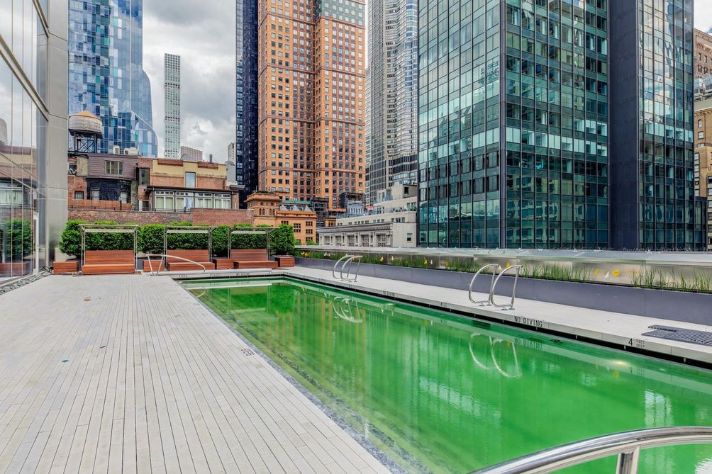 Central Park Tower pool amenities