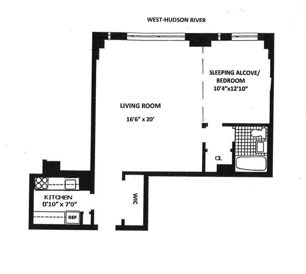 185 West End Avenue #8S floor plan