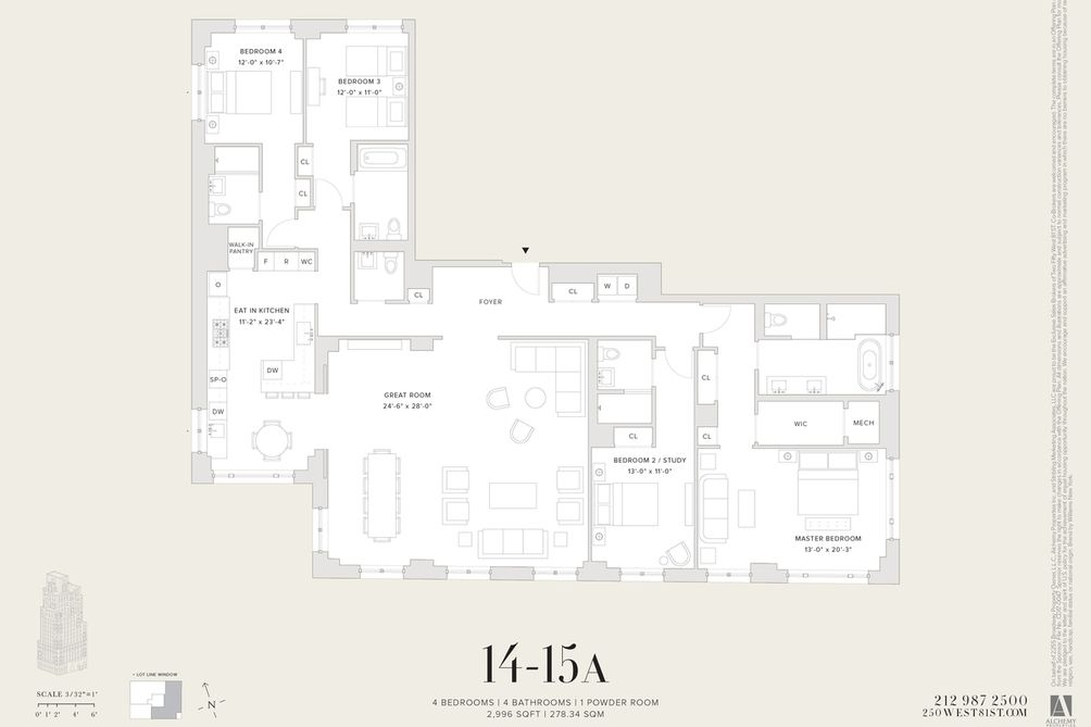 250 West 81st Street #15A floor plan