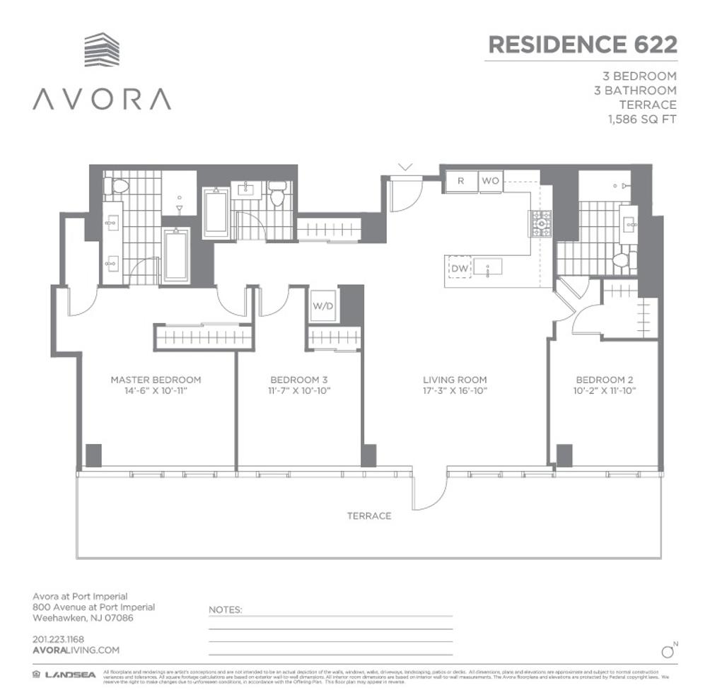 800 Avenue at Port Imperial #622 floor plan