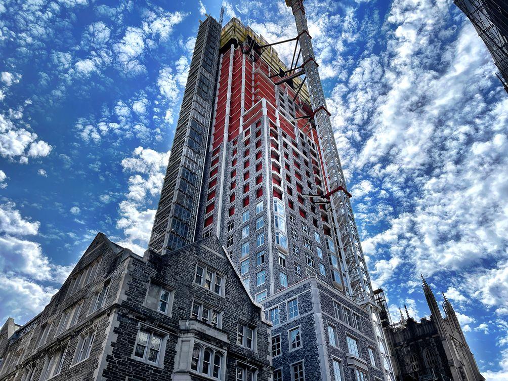 100 Claremont under construction in September 2021 Ondel Hylton