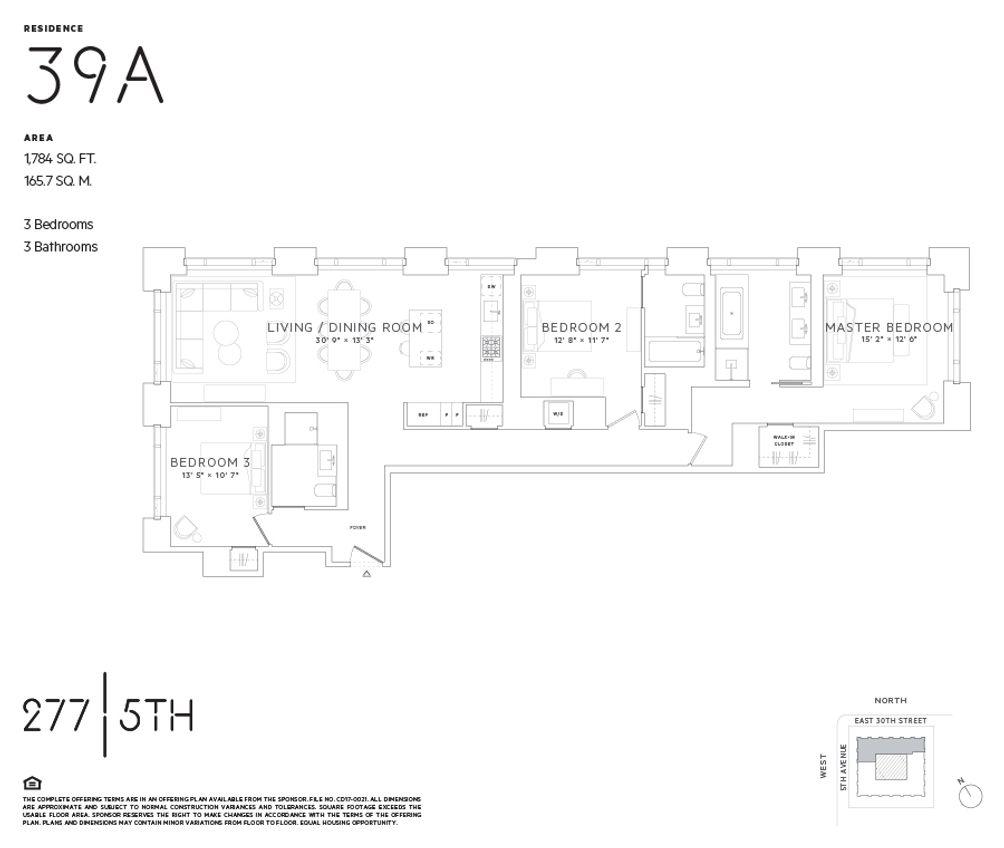 277 Fifth Avenue #39A floor plan