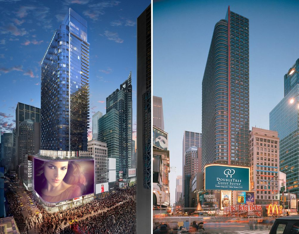 Permits Filed For Times Square Doubletree Hotel Expansion
