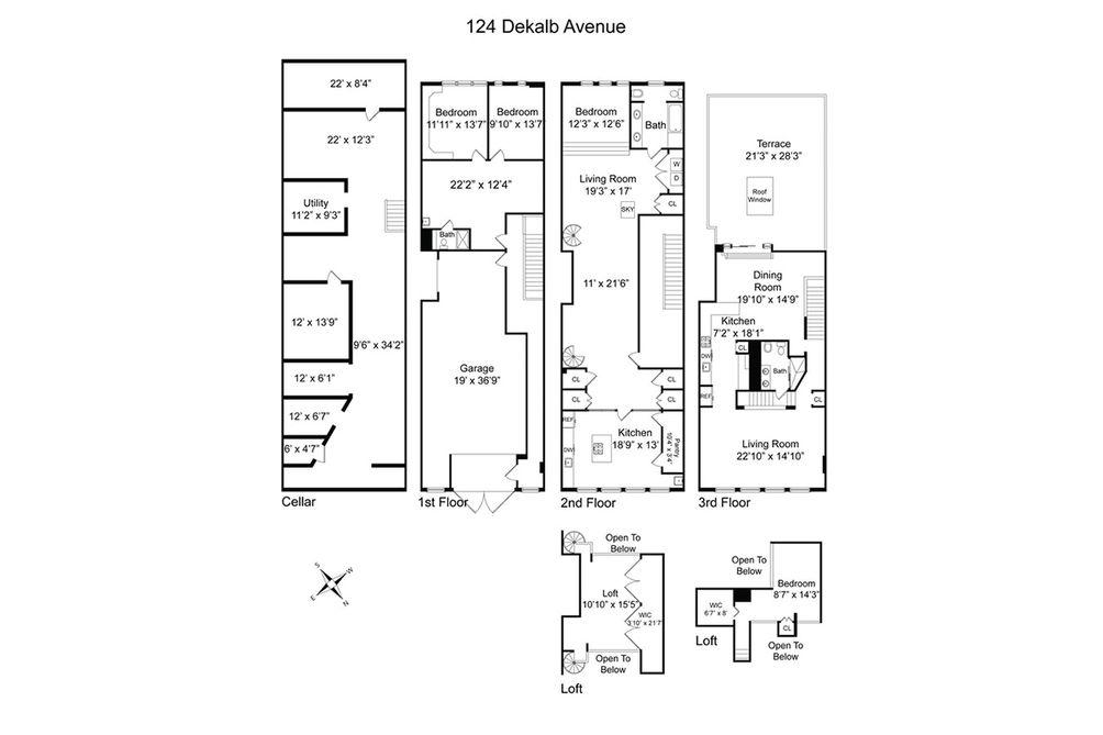 124 Dekalb Avenue floor plan