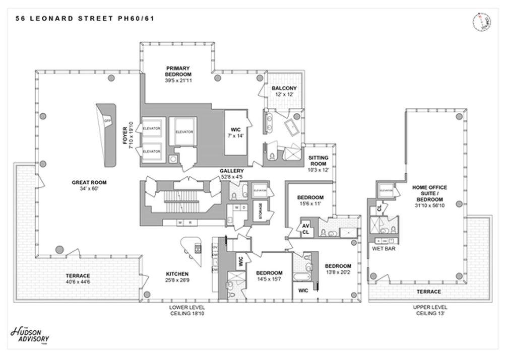 56 Leonard Street #PH53-54 floor plan