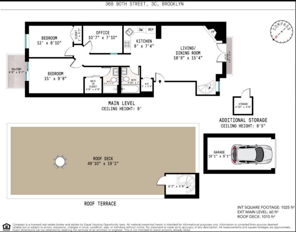 364 90th Street #3C floor plan