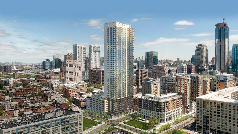 235 Grand Street, Hudson Projects, Jersey City, New Jersey, Ironstate Development Company, KRE Group, HLW Architects, Bentel & Bentel, rental