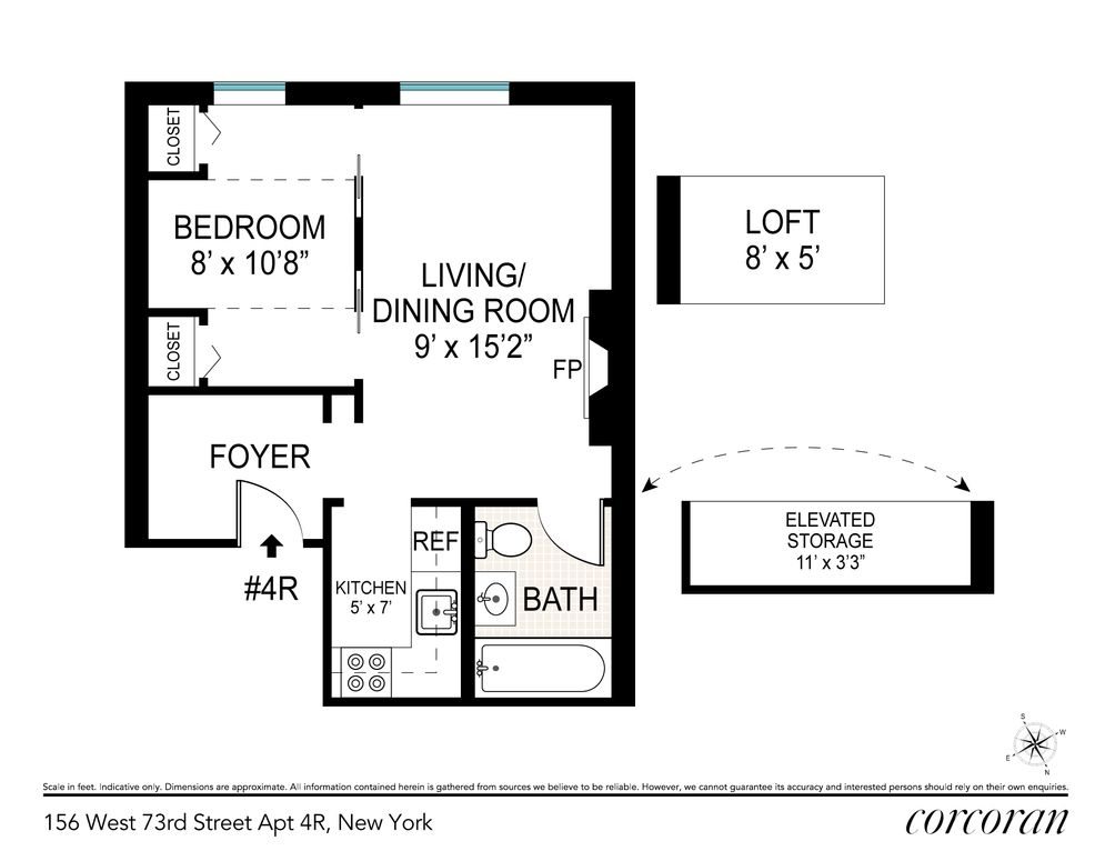 156 West 73rd Street #4R floor plan