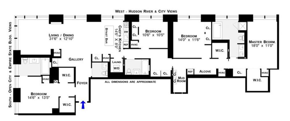 400 Fifth Avenue #39FGH floor plan