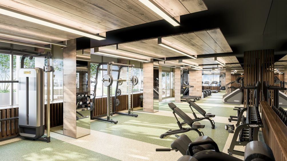 Gym, 235 Grand Street, Hudson Projects, Jersey City, New Jersey, Ironstate Development Company, KRE Group, HLW Architects, Bentel & Bentel, rental