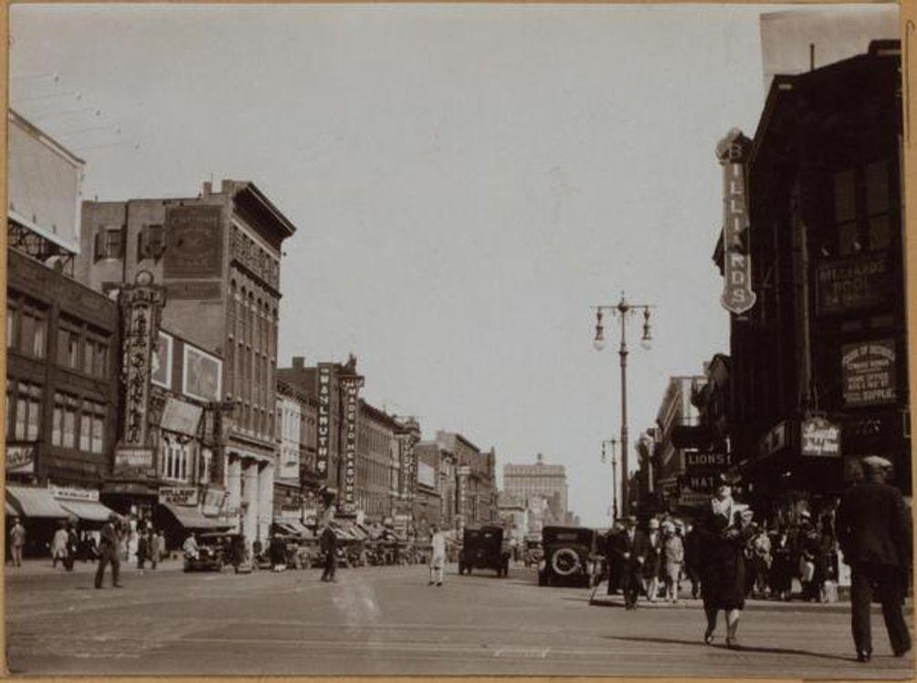Harlem, West 125th Street, 1928, historic, Geo. L. Balgue, the New York Public Library