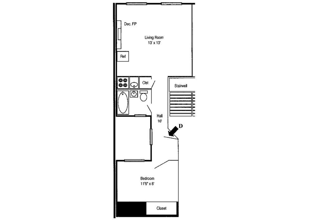 128 East 83rd Street #5D floor plan