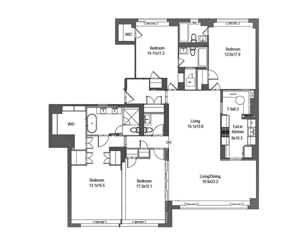 900 Park Avenue #11AB floor plan