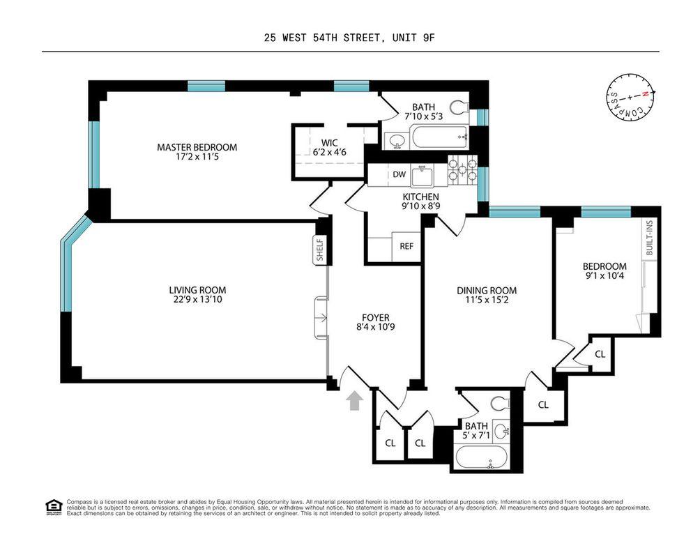25 West 54th Street #9F floor plan