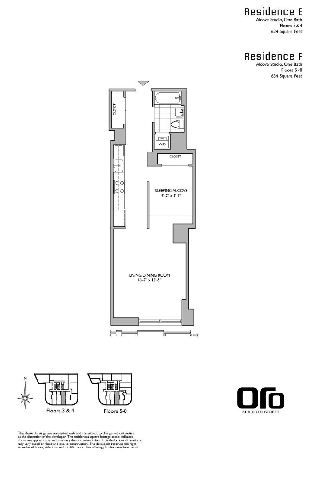 306 Gold Street #4E floor plan