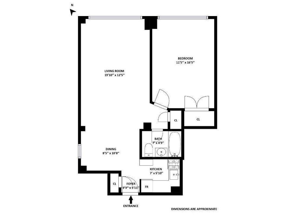 210 East 36th Street #10E floor plan
